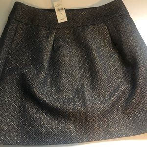 Loft Black & Gold Skirt